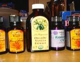 photo of a display of essential oils for natural muscle pain relief