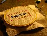 photo of needlepoint art with