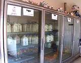 photo of milk case with old fashioned glass bottles of milk