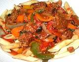 Italian Recipe and picture of Cantonese Pepper Steak over pasta