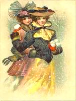 picture of 2 old fashioned girls