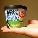 photo of Ben and Jerry's quart of vanilla ice cream
