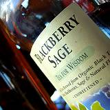 photo of a bottle of blackberry sage tea