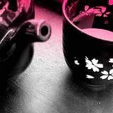 photo of a black tea set filled with black tea