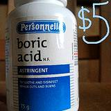 photo of a can of boric acid an excellent ingredient for natural pest control