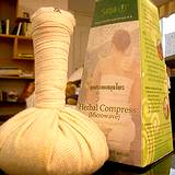 photo of a unique herbal compress for muscle pain relief