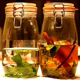 2 jars of herbal tea for home remedy for acne