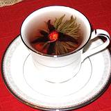 photo of a cup of lavender tea a good source to soak compress for back pain relief