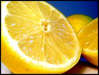 A beautiful sliced lemon