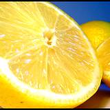 photo of half a fresh lemon great acne home remedy