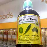 photo of a bottle of olive leaf extract
