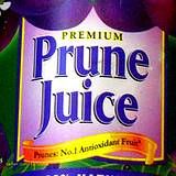 photo of a prune juice label a natural ingredient in pudding recipe for constipation relief