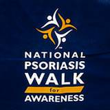 A banner of a Walk for Psoriasis Research