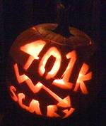 photo of a lit pumpkin with