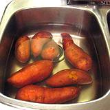photo of yams soaking in sink a natural source as menopause remedy